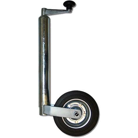 362kg - Rueda Jockey Delantera Apoyo Soporte Goma Maciza Diametro 48mm Remolque Coche Caravan