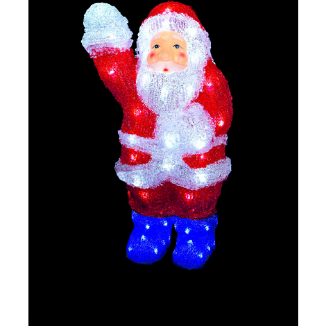 36cm Waving Santa with 48 White LED's