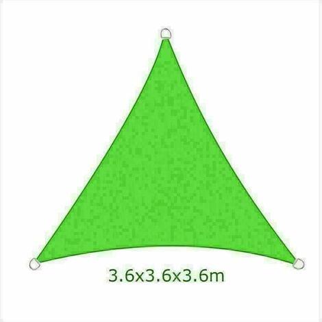 3.6m Sun Sail Shade Triangle Awning Canopy Garden Sun Patio Sunscreen - Light Green