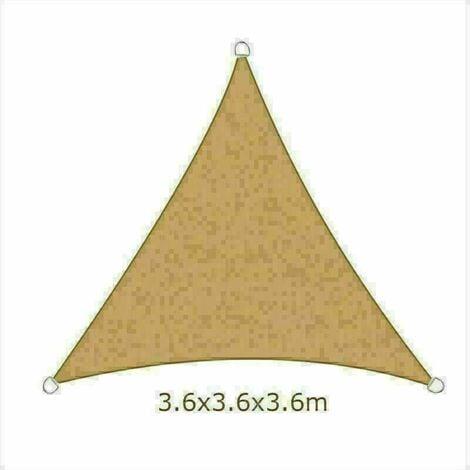 3.6m Sun Sail Shade Triangle Awning Canopy Garden Sun Patio Sunscreen - Sand