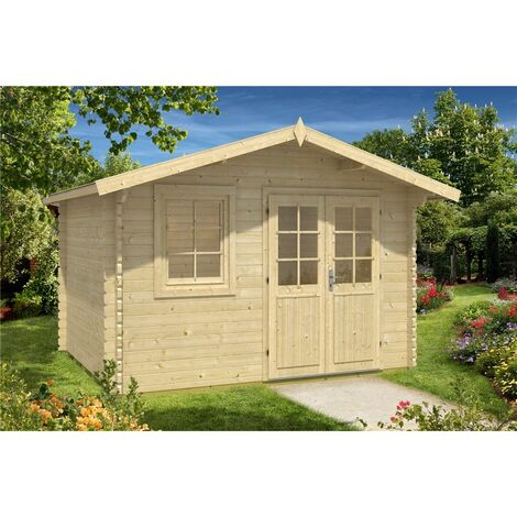 3.6m x 3m Budget Apex Log Cabin (215) - Double Glazing (40mm Wall Thickness)