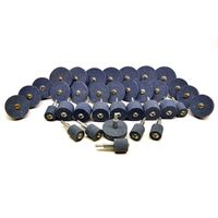 """36pc Assorted Grinding Stones / Wheels Coarse and Fine with 1/4"""" Arbor TE473"""