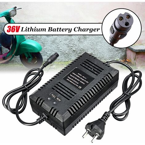 36V Lithium Chargeur de Batterie EU Plug 1+ 3- Pr Electrique Scooter Moto Vélo