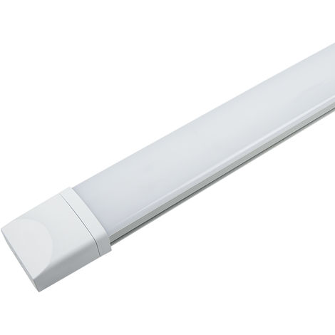 36W 120cm Pantalla LED Éstanca, 2800Lm Tubo LED Integrado Slim Luces, Anticorrosivas Impermeable Luces De Techo, Blanco Natural