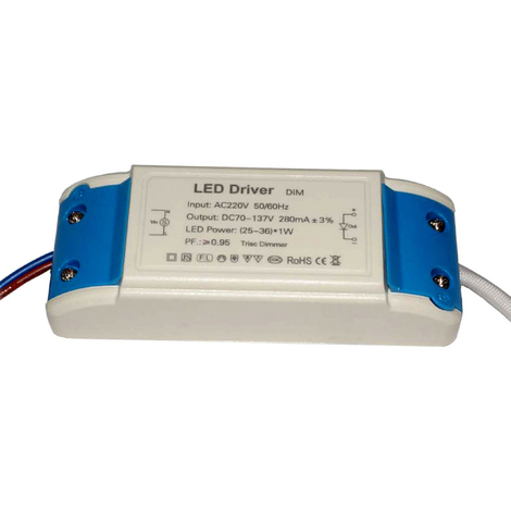 """main image of """"36W 280mAmp DC 70V-137V Compact Constant Current LED driver"""""""