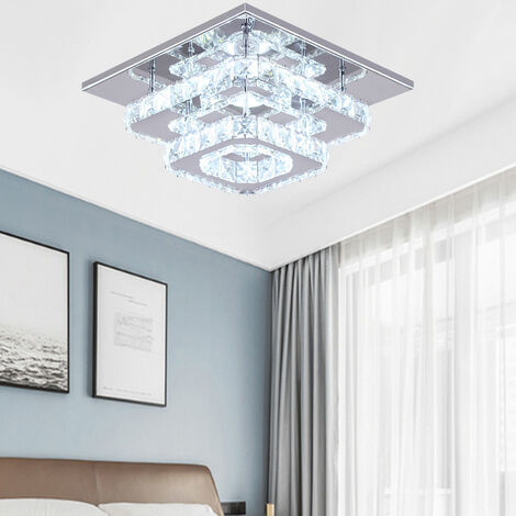 36W LED Ceiling Light Crystal Chandelier Pendant Lamp