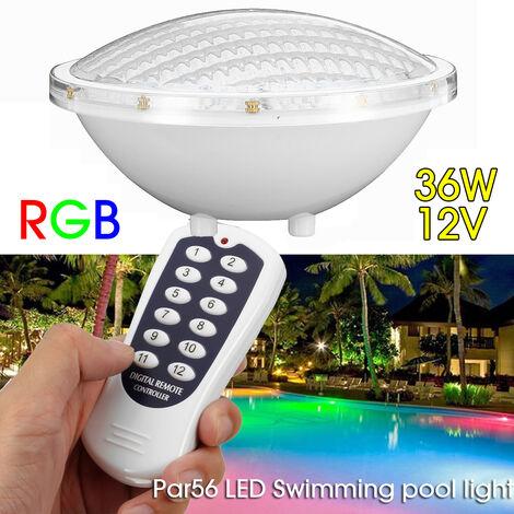 36W RGB LED Luz subacuática LED Lámpara de spa para piscina impermeable IP68