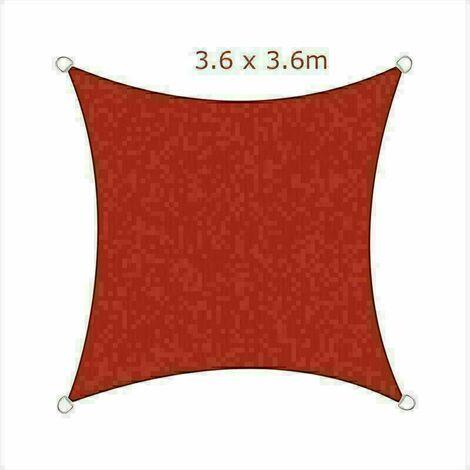 3.6x3.6m Sun Sail Shade Square Awning Canopy Garden Sun Patio Sunscreen - Terracotta