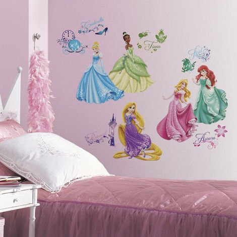 37 Stickers Princesses Disney Royal Repositionnables