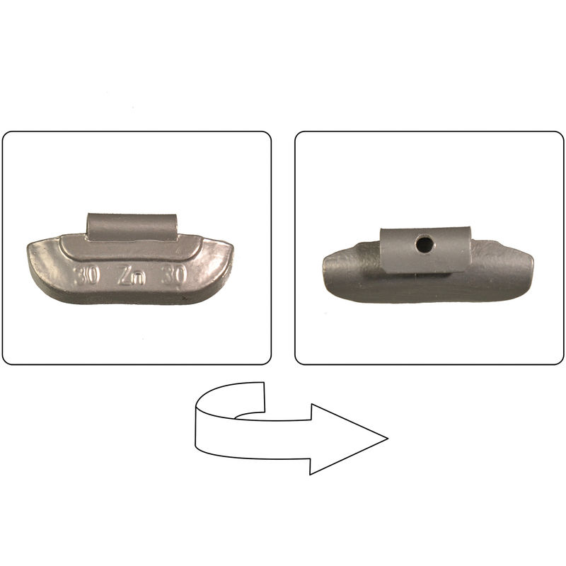 30g f/ür Felgen Alu und Stahl MS-Warenvertrieb 370 TLG Sortiment Auswuchtgewichte Schlag//Klebe aus Zink//Eisen 5g