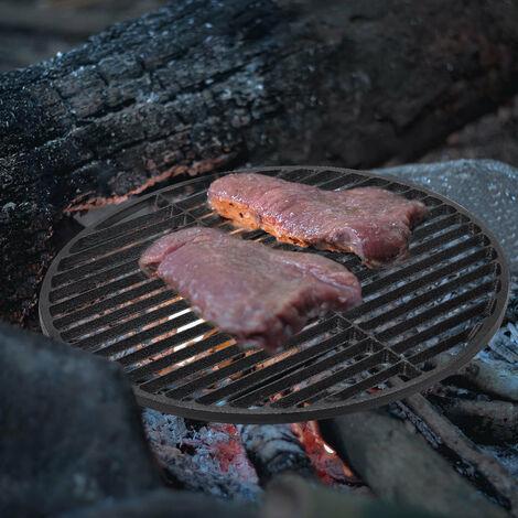 "main image of ""37.5cm Round Cast Iron BBQ Grill Rack Black"""