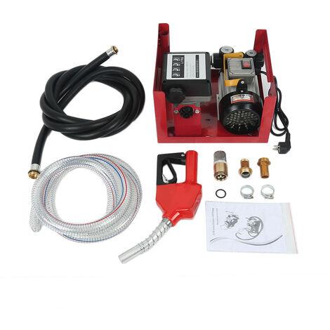 375W Pompe à Fuel ou Gasoil Bio Autoaspirante 40 L/min Mobile Pistolet Auto