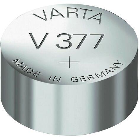 """main image of """"377 Pile bouton à l'oxyde d'argent VARTA SR626SW"""""""
