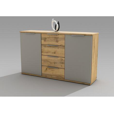 """38-230-K2 CAPRI Wildeiche Nb. / basaltgrau Kommde, Sideboard passend zu Schlafzimmer, Highbaord mit-""""SW12450"""""""