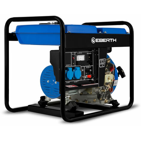 3,8 CV Diesel generateur electrique 1-phase GG1-ERD2000H-1 avec une puissance maximale de 2000 watts 2x 230V et 1x 12V