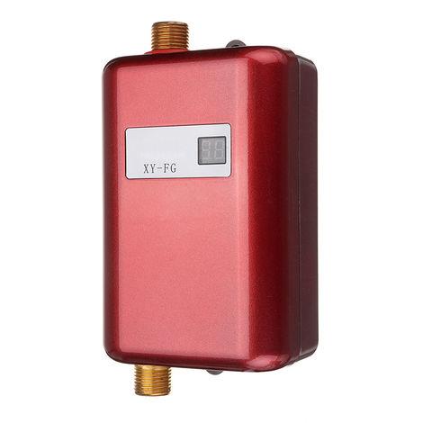3800W Mini Calentador de agua eléctrico instantáneo Temperatura automática ajustable para cocina de baño Sasicare