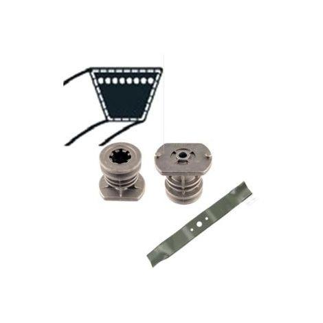 381003381/0 - Kit support de Lame / Lame et courroie pour tondeuse Stiga / CAstelgarden / GGP