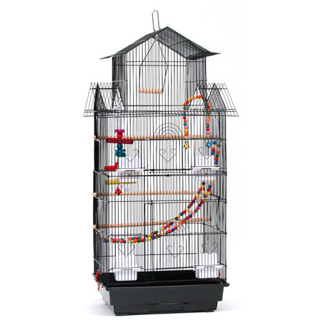 "39"" Bird Cage Parrot Canary Large Cockatiel House with Toys - Different colours"