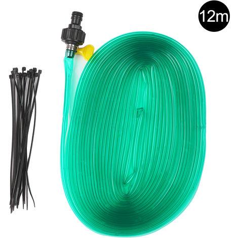 39-feet Trampoline Sprinkler Pipe Water Pipe 12 Meters with Connector Flexible PVC Pipe Lawn Spray Pipe