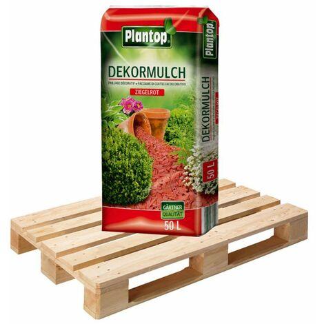 39 Sack DekorMulch 50 Liter ziegelrot Garten Deko-Mulch je 50 Liter Rindenmulch
