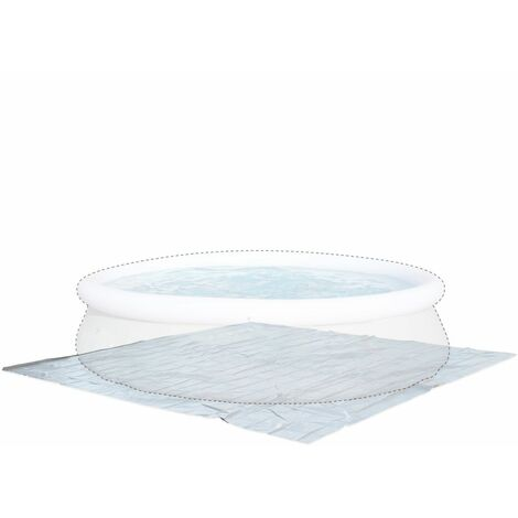 390 x 390cm ground cloth for Ø360cm above ground round frame pool, floor protector for Agate swimming pool