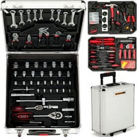 399 Piece Aluminum Tool Trolley Case Box Casters Household DIY