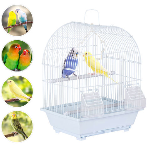 39cm Portable Small Bird Cage For Budgie Finch Lovebird Cockatiel Travel Cage
