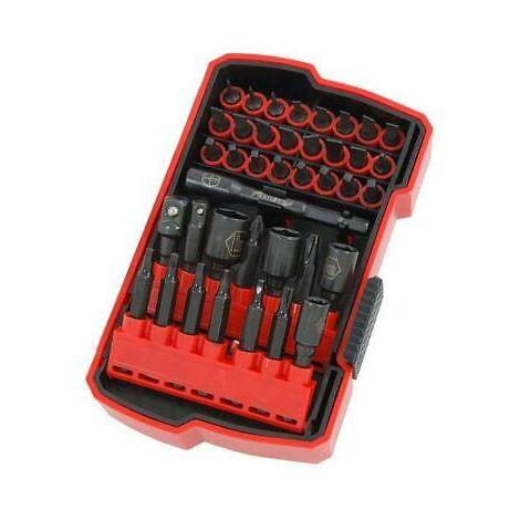 39pc Screwdriver, Magnetic Bit, Socket & Nut Driver Set
