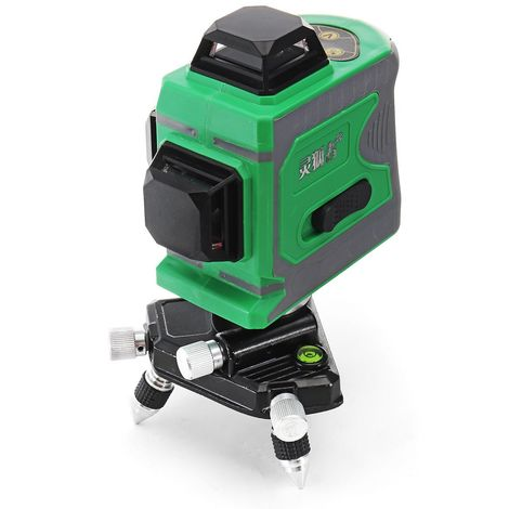 3D 12 Lignes Laser Vert Niveau Auto-Nivellement 360 ° Croix Laser Mesure - Vert