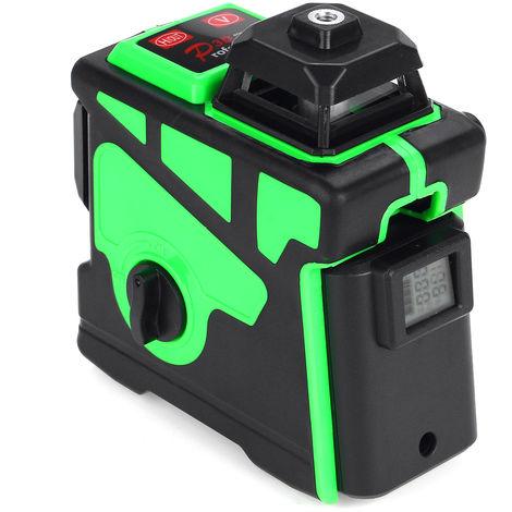 3D 12 Line Laser Level Green Light Digital Auto Leveling 360 ¡ã Rotary Measurement
