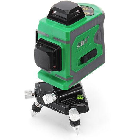 3D 12 líneas de nivel láser verde autonivelante Medición láser cruzada de 360 °