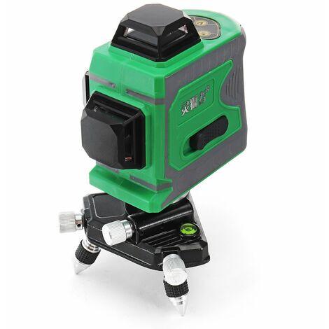 3D 12 líneas nivel láser verde autonivelante medición cruzada con láser 360 ° LAVENTE