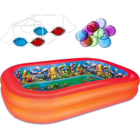 3D Adventure Family Pool Pirate's Treasure 262 cm Inclduing 2 x 3D Swim Goggles