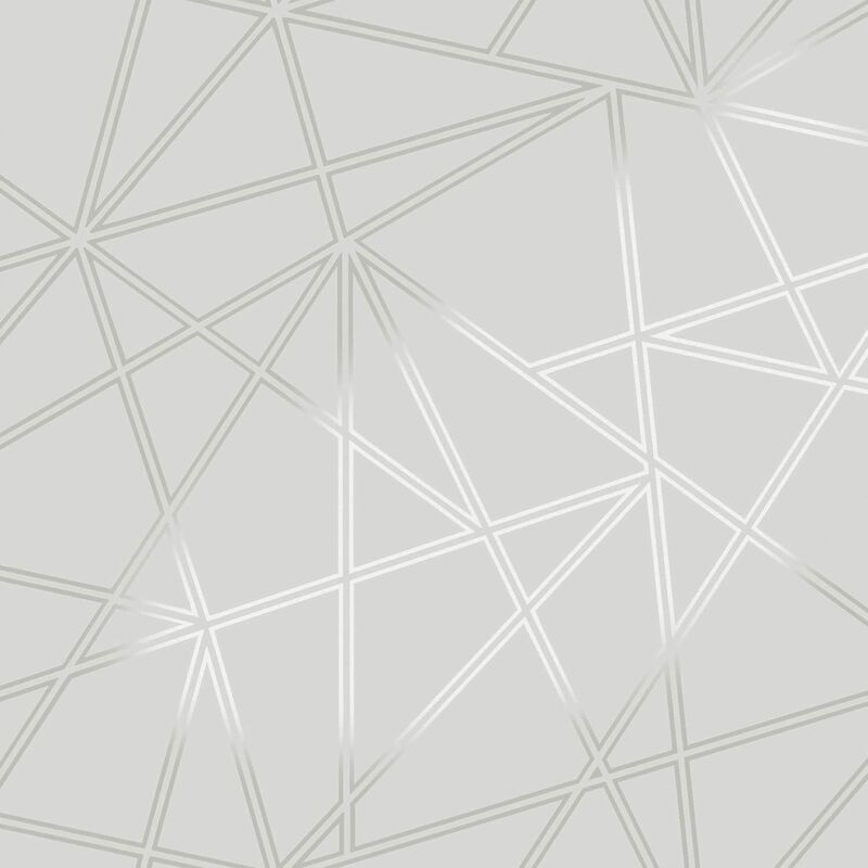 Image of 3D Apex Geometric Wallpaper Triangle Metallic Luxury Paladium - Holden Decor
