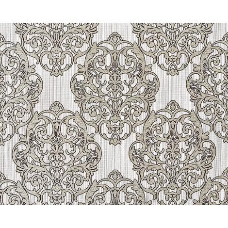 3D baroque paste the wall wallpaper XXL EDEM 648-93 textured nonwoven magnificent damask pattern brown off-white bronze glitter 10.65 m2