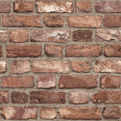 Grandeco 3D Brick Effect Wallpaper