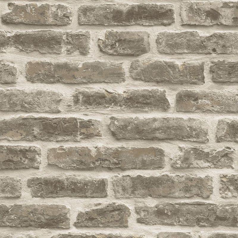 3d Brick Effect Wallpaper Slate Stone Rustic Textured Grey Vinyl Heavy