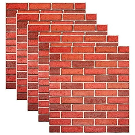 3D Brick Wallpaper Peal and Stick PE Foam Wall Sticker for Living Room Home Office (29 Sq.ft Brick Style 2)