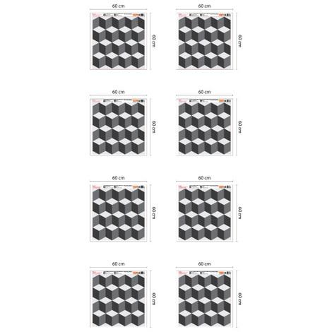 3D Cubes Pattern - 108cm x 216cm