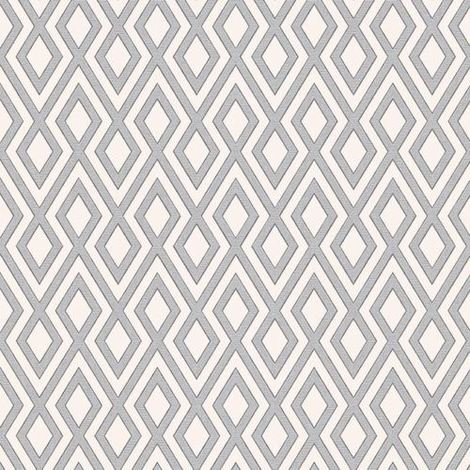 3D Effect Diamond Geometric Wallpaper Glitter Sparkle Silver White Erismann