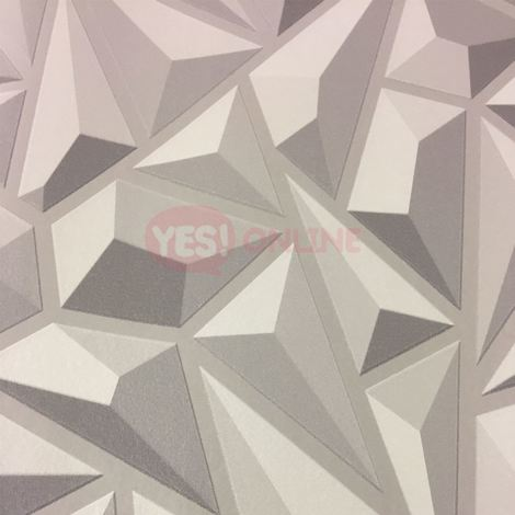 3D Effect Grey Geometric Wallpaper Textured Luxury Vinyl Modern Feature Erismann