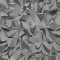 3D Effect Grey Silver Futuristic Metallic Vinyl Wallpaper
