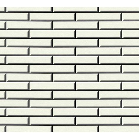 3D Effect Stone Wall Apron Brick Wallpaper Tile Vinyl White Black Embossed