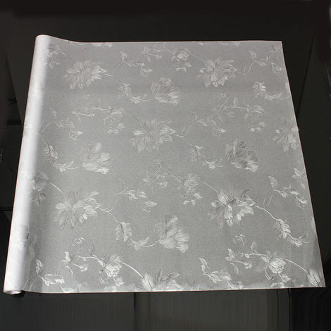 3D Film Sticker Hibiscus Pattern Window Translucent Glass 60X100Cm