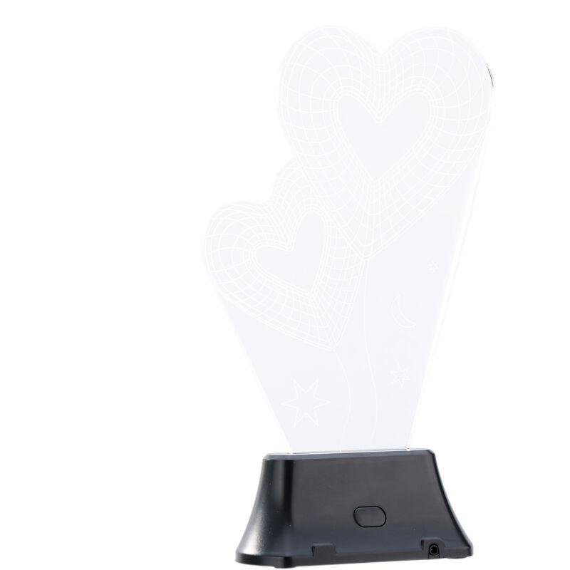 Image of 3D LED Lamp Light USB Heart to Heart Night Light