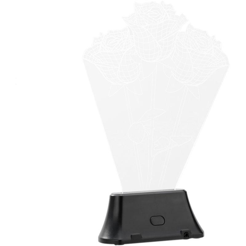 Image of 3D LED Lamp Light USB Rose Night Light white