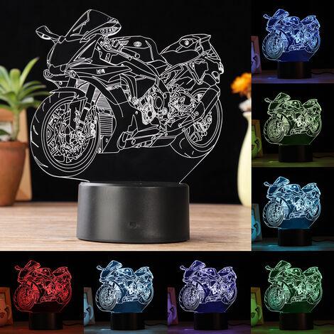 3D LED Lampe Table Changement Couleur Moto