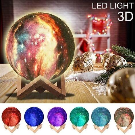 3D LED nuit lune lumière lampe de table bureau clair de lune télécommande USB 16 couleurs tactiles 16 couleurs + prise de vue + télécommande 20 cm 16 couleurs 20cm avec télécommande
