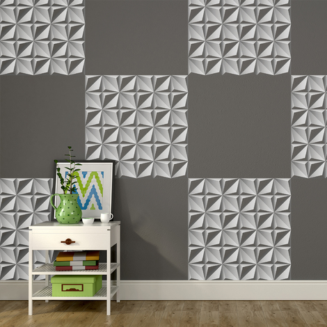 3D Northern Star pattern Self-adhesive wall mural 216cm x 108cm