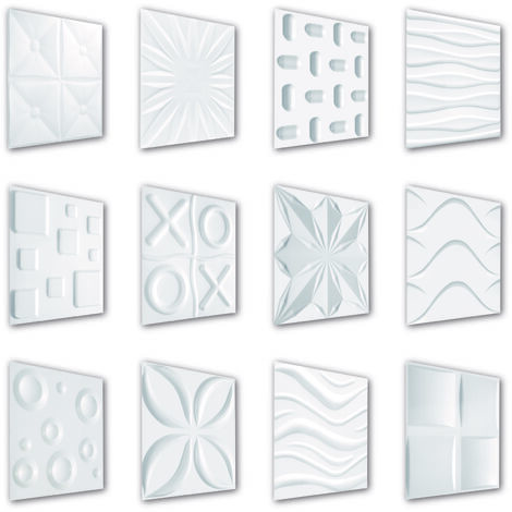 3D Paneel | Styroporplatten | Wandverkleidung | EPS | 50x50cm | Große Auswahl | 1 qm